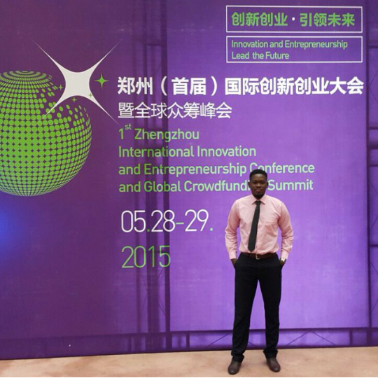 Jermaine Henry representing AgroCentral in Zhengzou, China