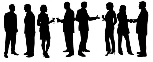 networking silhouette